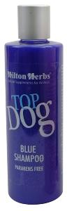 "Shampoing ""Top Dog Blue"" pour chiens blancs"